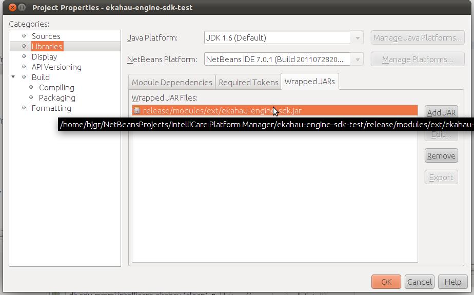Adding javadoc to JAR files in a Netbeans project | gronbaek net